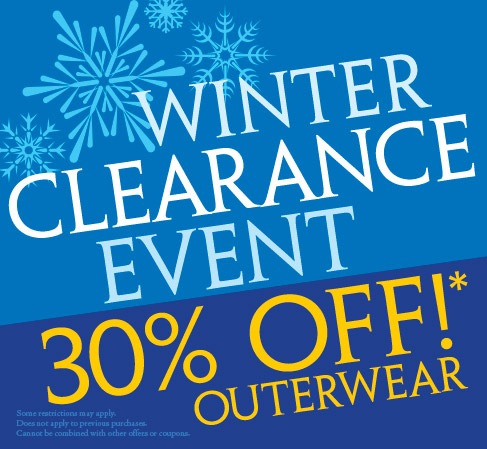 Winter Outerwear Clearance 2015