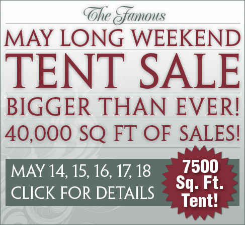 Pleasant Ridge Spring Tent Sale