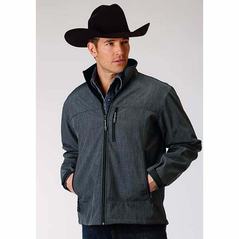 Men's Textured Outerwear Jacket