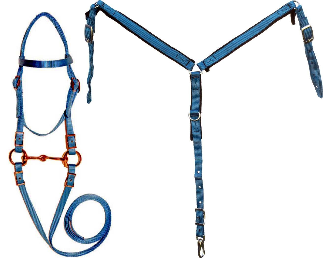 Mini Nylon Bridle, Reins and Breastcollar set