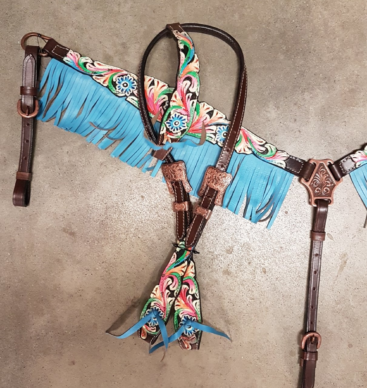 Breastcollar and Headstall by Amarillo Tack