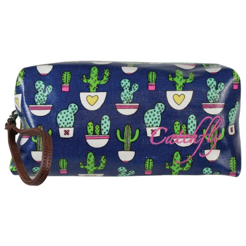 Catchfly Lennon Cactus Large Cosmetic Bag
