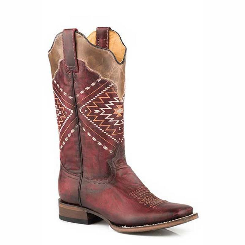 Ladies Roper Burgundy Western Boot