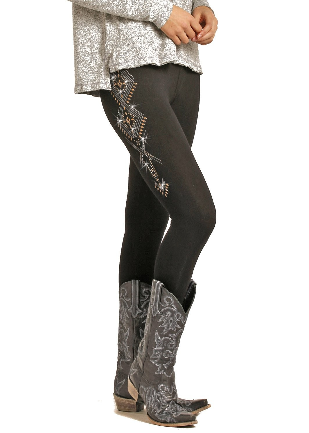 Ladies Rock and Roll Cowgirl Embellished Leggings