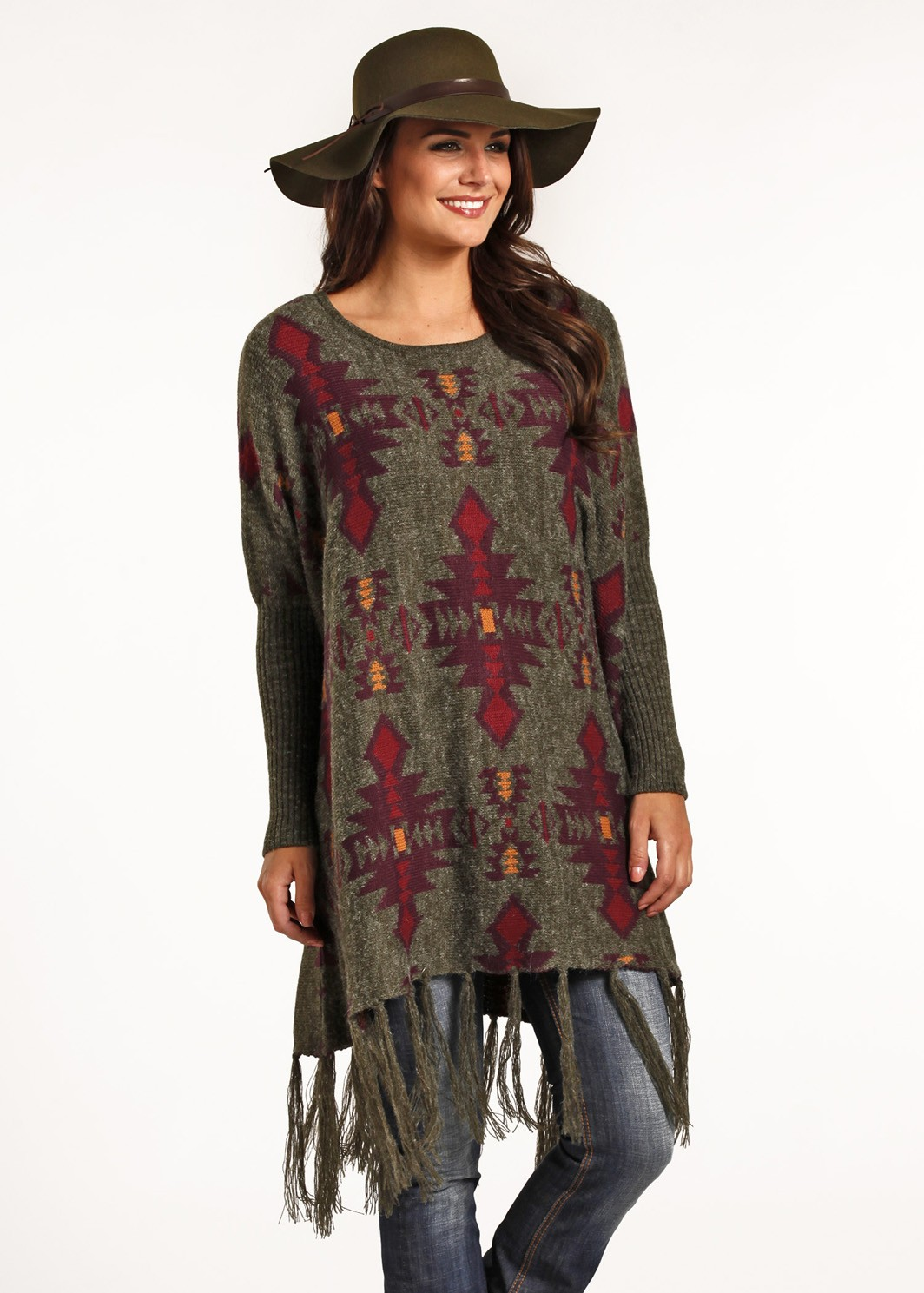 Ladies Powder River Aztec Poncho