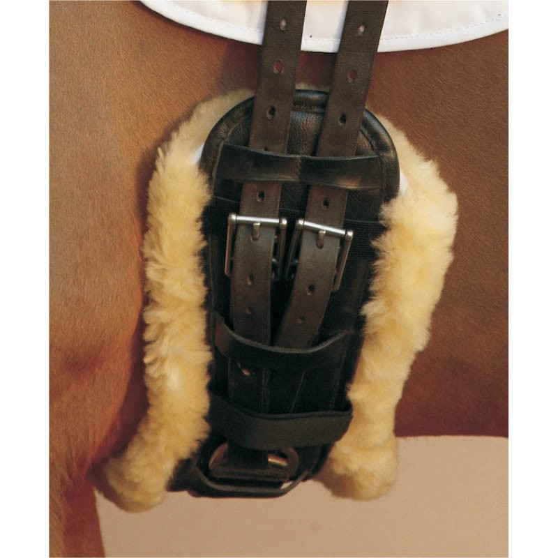 Sheepskin girth cover