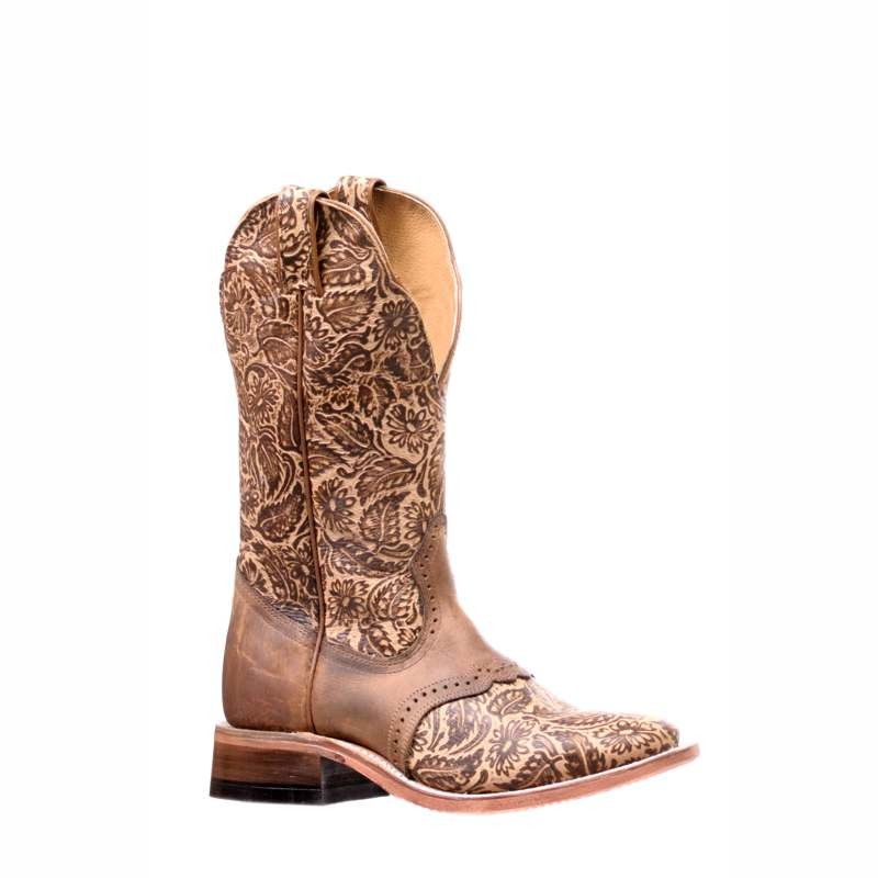 Ladies Boulet Floral Tooled Boots
