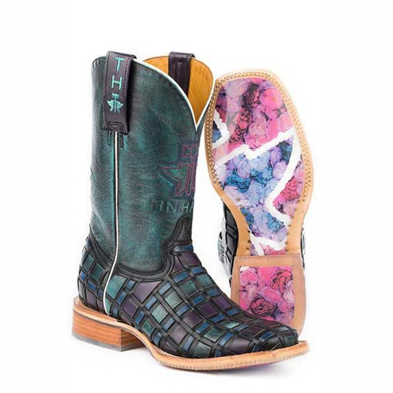 Ladies Tin Haul Entwined Western Boot