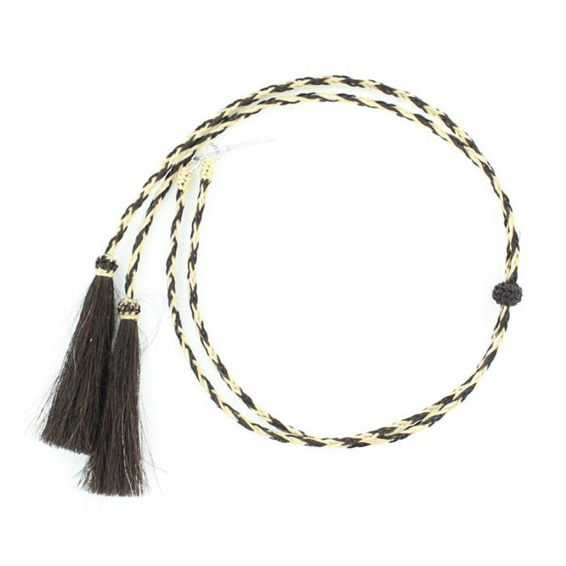 Natural Horsehair Stampede String -Black