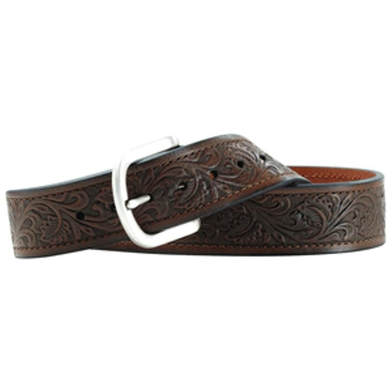 Ariat Men's Brown Floral Belt
