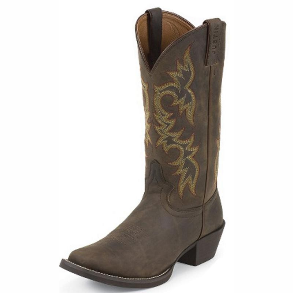 s justin square toe sorrel apache boot