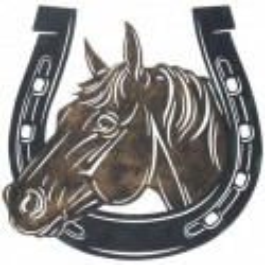 "Horse in Horseshoe Sign- 13"""
