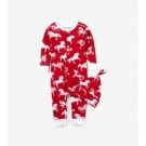 Infant Hatley Coverall and Cap Horse Snowflakes