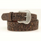 Women's M&F Tooled Leather Belt