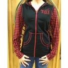 Cowgirl Tuff Buffalo Plaid Zip Up Sweater