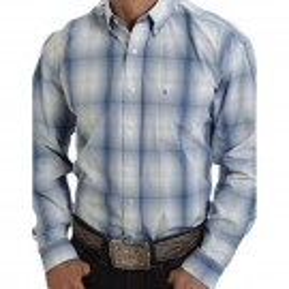 Men's Stetson Blue Plaid Shirt