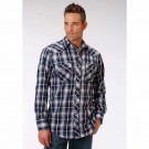 Men's Roper Blue Plaid Western Shirt