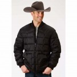 Men's Roper Black Outerwear Coat