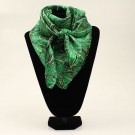 100% Silk WildRags -Green Cactus