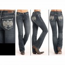 Ladies Rock and Roll Cowgirl Mid Rise Jeans