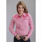 Ladies Stetson Pink Shirt
