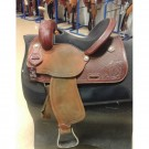 "Used 14"" Western Rawhide Barrel Saddle"