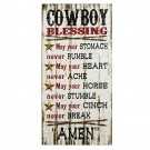 Cowboy Blessing Sign