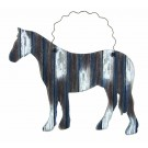 Weathered Wooden Horse Ornament