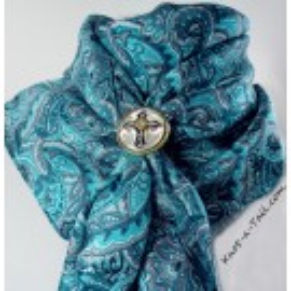 Turquoise Paisley Silk Wild Rag