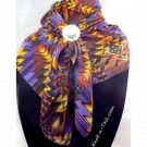 Purple Aztec Silk Wildrag