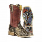 Ladies Tin Haul Paisley Rocks Boots