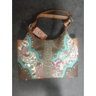 Justin Canvas Floral Handbag
