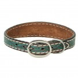 """1"""" Weaver Turquoise Flower Dog Collar"""