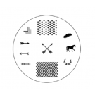 Spiced Equestrian Nail Stamp Disc-Wildlands
