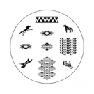 Spiced Equestrian Nail Stamp Disc-Southwest