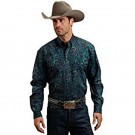 Men`s Stetson Blue Paisley Shirt
