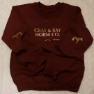 Gray & Bay Horse Elbow Patch Crew Sweater