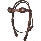 Triple Scallop Alamo Headstall