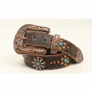 Ladies Nocona Floral Tooled Belt