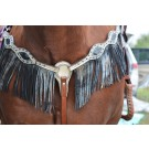 Alamo Platinum Metallic Breastcollar with Fringe