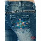 Girls Cowgirl Tuff Bold Aztec Jeans