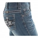 Ladies Cowgirl Tuff Silver Aztec Jeans