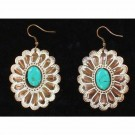 Western Floral Turquoise Earrings