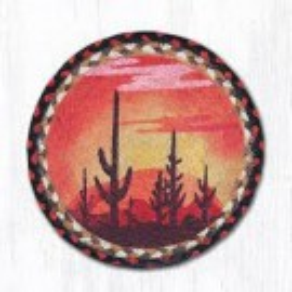 Desert Sunset 10x15 Trivet Braided Rug