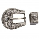 Belt Buckle Set -Silver