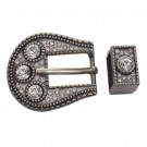 Belt Buckle Set - Gun Metal