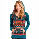 Ladies Panhandle Slim Aztec Pull Over