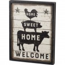 Home Sweet Home Welcome Box Sign