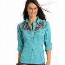 Ladies Panhandle Slim Embroidered Shirt