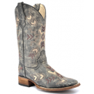 Women's Circle G by Corral  Black Cowhide Square Toe Boot
